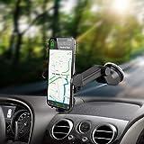 VEECEE Soporte Móvil Coche,Phone Holder Universal con Ventosa de Gel Fuerte para Parabrisas/Salpicadero,360 Grado Soporte de Telefono para Coche para iPhone Samsung Huawei Lite y Más