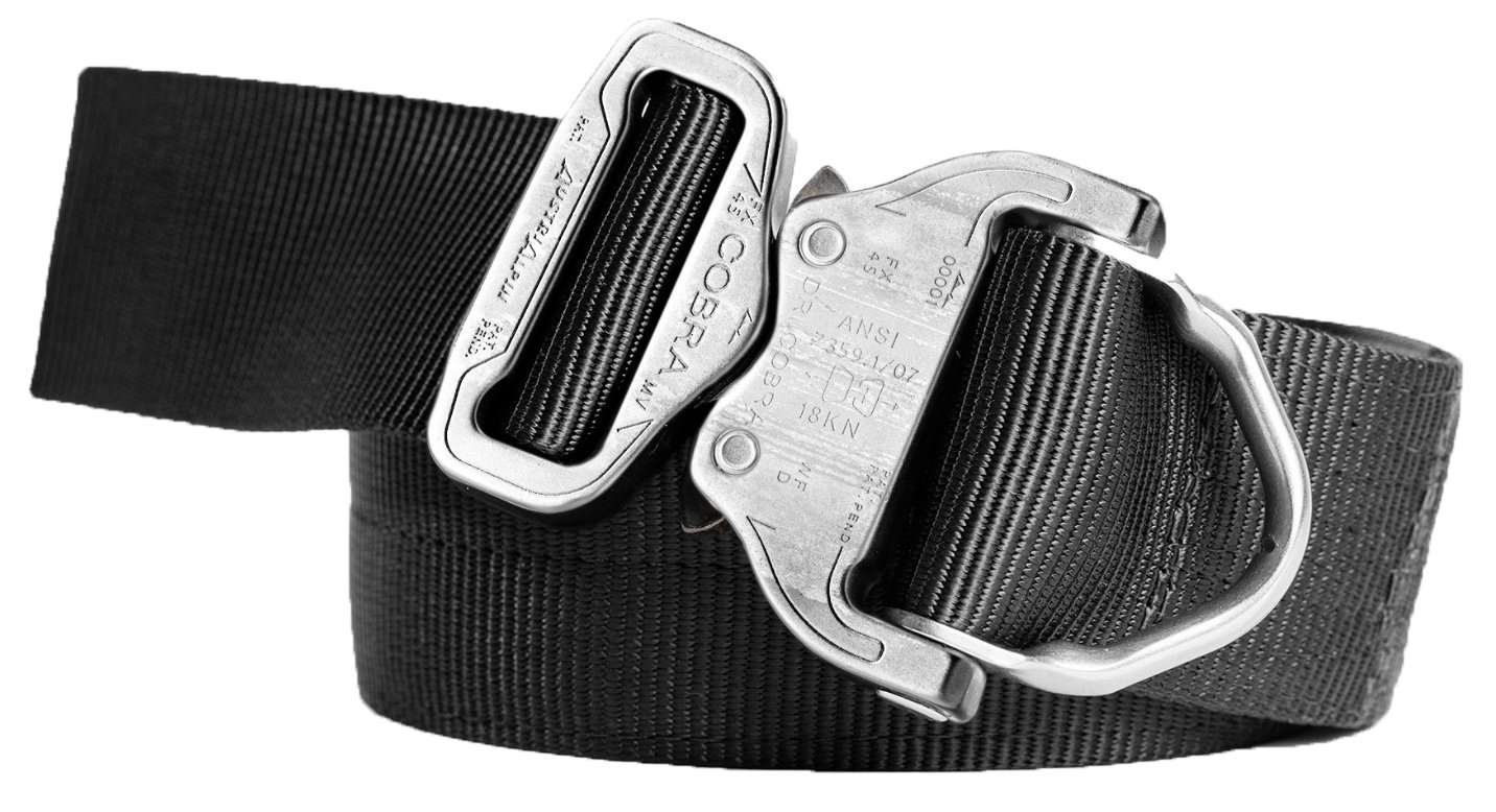 Cobra Quick Release Buckle Men's Tactical Belt - 3 PLY 1.75'' D-Ring Riggers Belt