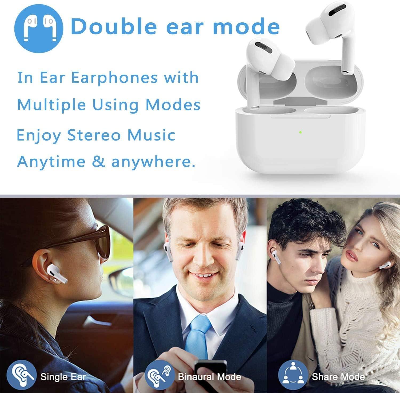 Auriculares inal/ámbricos Auriculares Bluetooth 5.0 Control t/áctil micr/ófono Incorporado y Caja de Carga Adecuado para Android//iPhone//AirPods//Samsung reducci/ón de Ruido est/éreo 3D HD