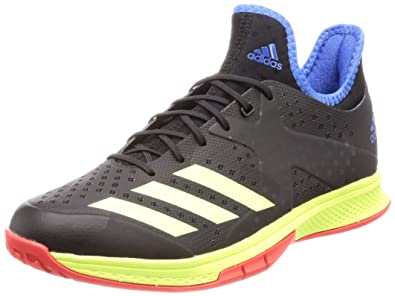adidas Herren Counterblast Bounce Handballschuhe, Schwarz Core BlackHiRes YellowTrue Blue, 44 23 EU