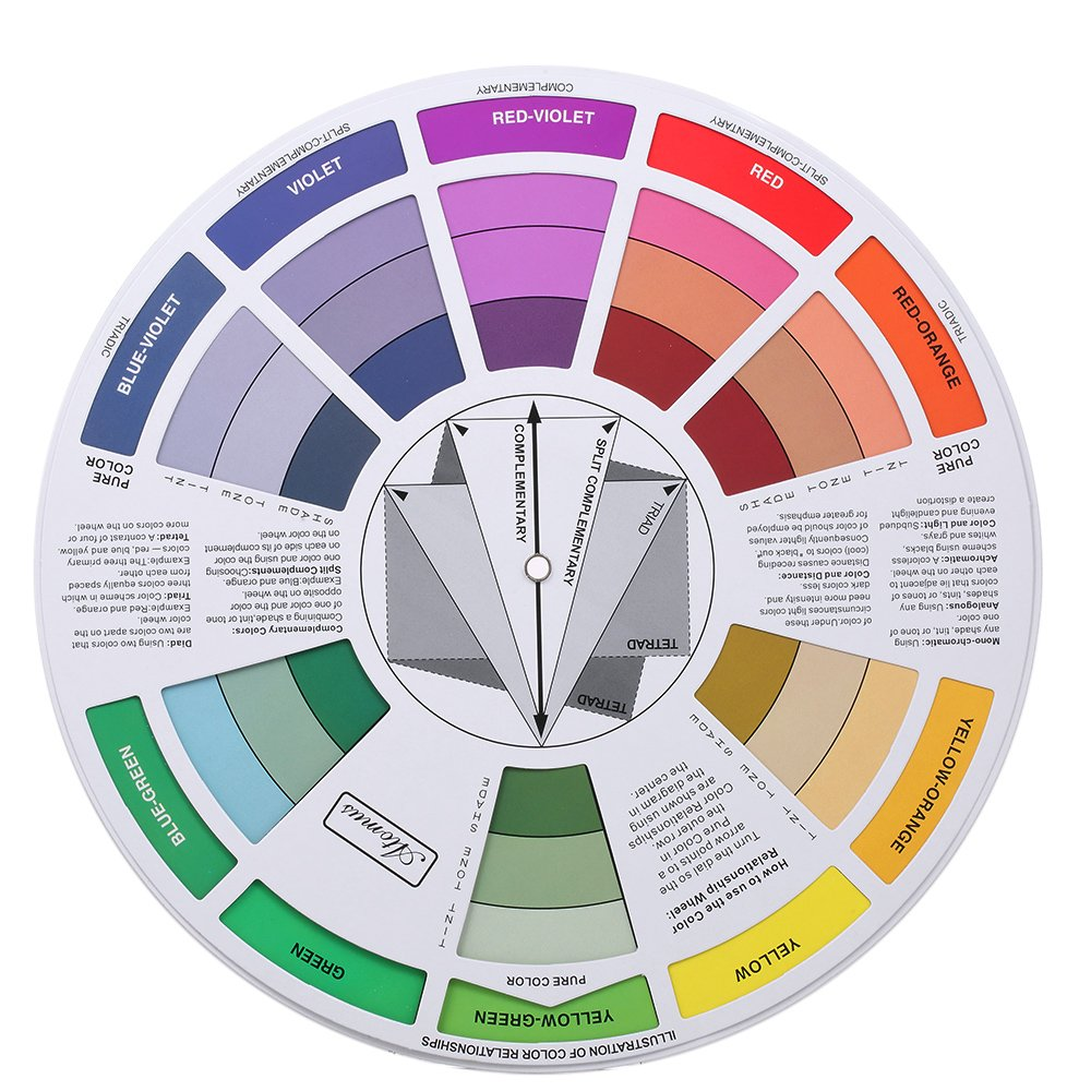 Amazon Anself Tattoo Pigment Color Wheel Chart Color Mix Guide
