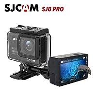 """SJCAM SJ8 Pro Sport Action Kamera Mini DV Wasserdichte Kamera 4K 60fps Ambarella H22 S85 SONY IMX377 Wi-Fi Sport Cam Unterwasser Camcorder 12MP 30 Mt Wasserdicht mit High-Klarheit Digitaler Zoom 2,33 """"Dual Touchscreen (Schwarz)"""
