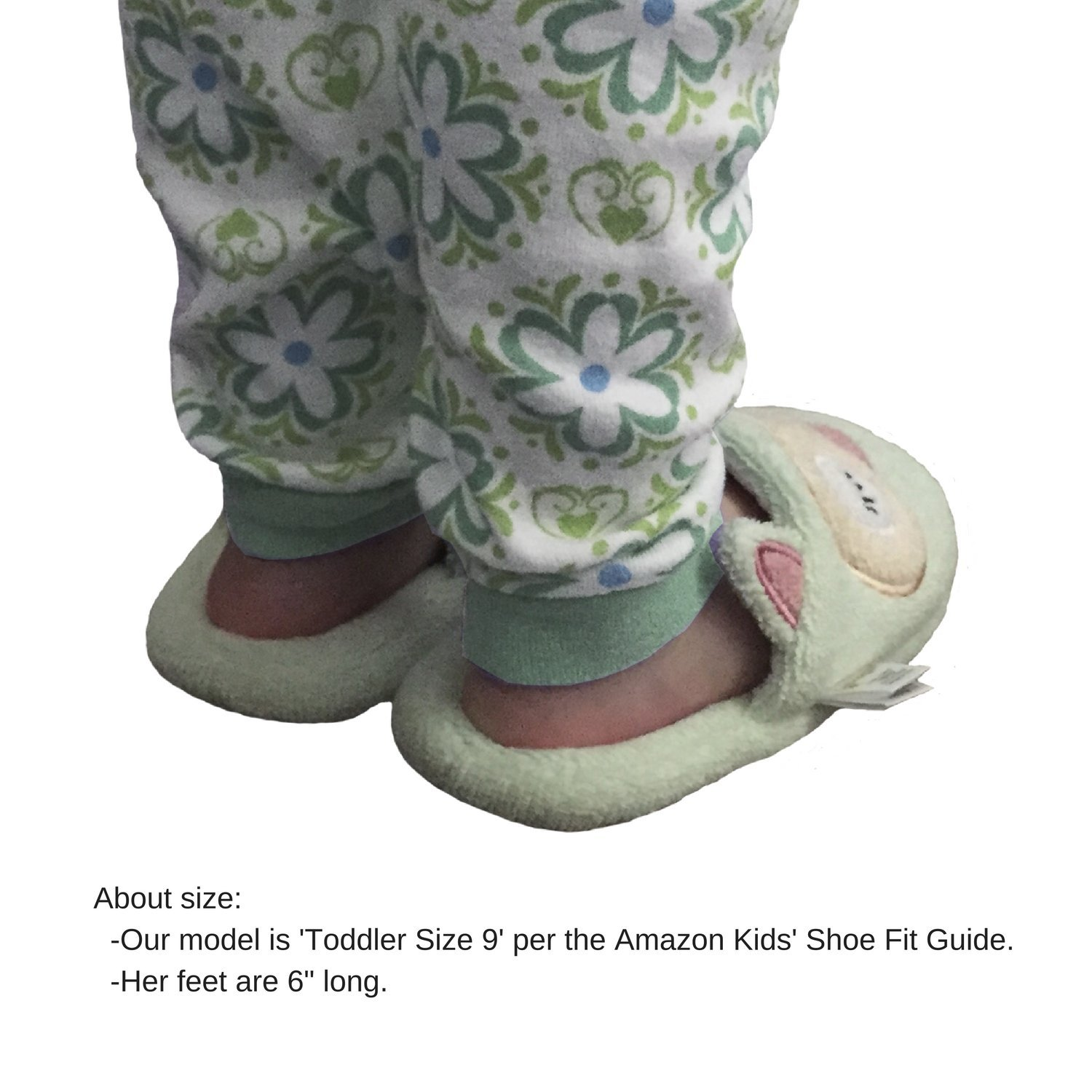 Breganwood Organics Toddlers Terry House Slippers for Boys and Girls, Closed Toe with Non Slip Sole, Pastel Peach Animal Design, Busy Beaver by Breganwood Organics (Image #5)