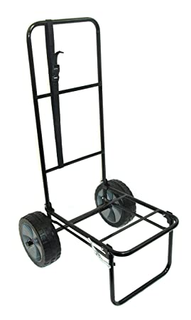 Bison - Carro de pesca plegable con neumáticos a prueba de pinchazos (25