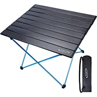 G4Free Lightweight Portable Camping Table Aluminum Folding Table Compact Roll Up Tables with Carrying Bag for Outdoor Camping Hiking Picnic Backpacking