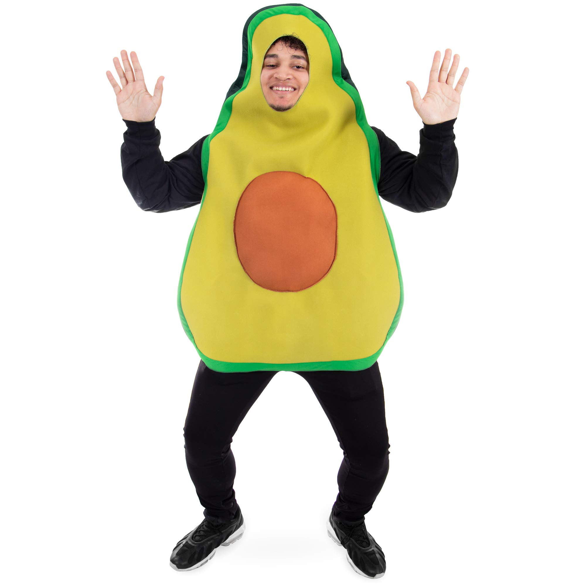 Boo Inc. Fresh Avocado Halloween Costume | Funny Food, Adult One-Size Unisex Outfit