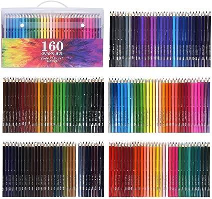 WCOCOW 120/160 lápices de colores, estuche de lápices de colores para colorear para adultos Libros, artistas y dibujantes (PET package of 160): Amazon.es: Oficina y papelería