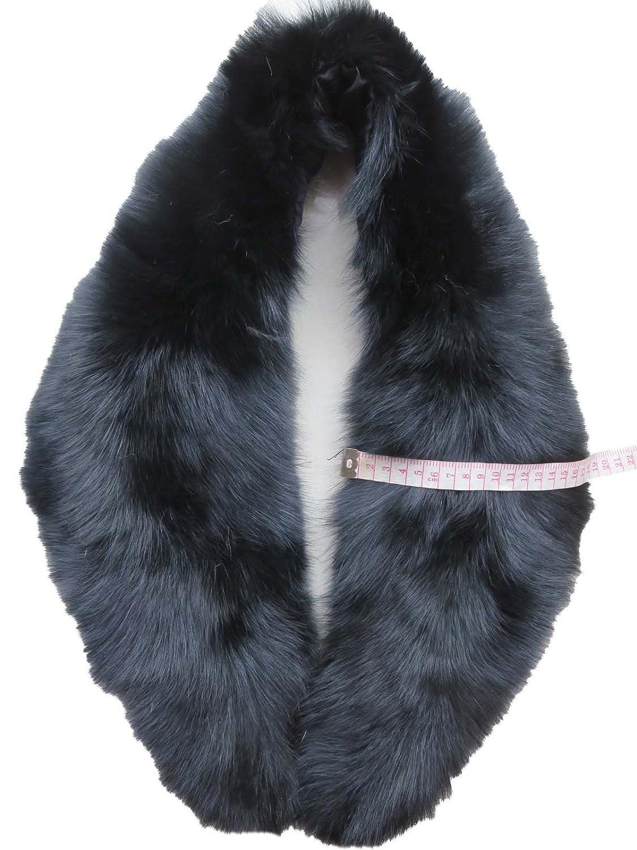 Women Genuine Fox Fur Collar L'102CM L' 82CM For Coat/Jacket