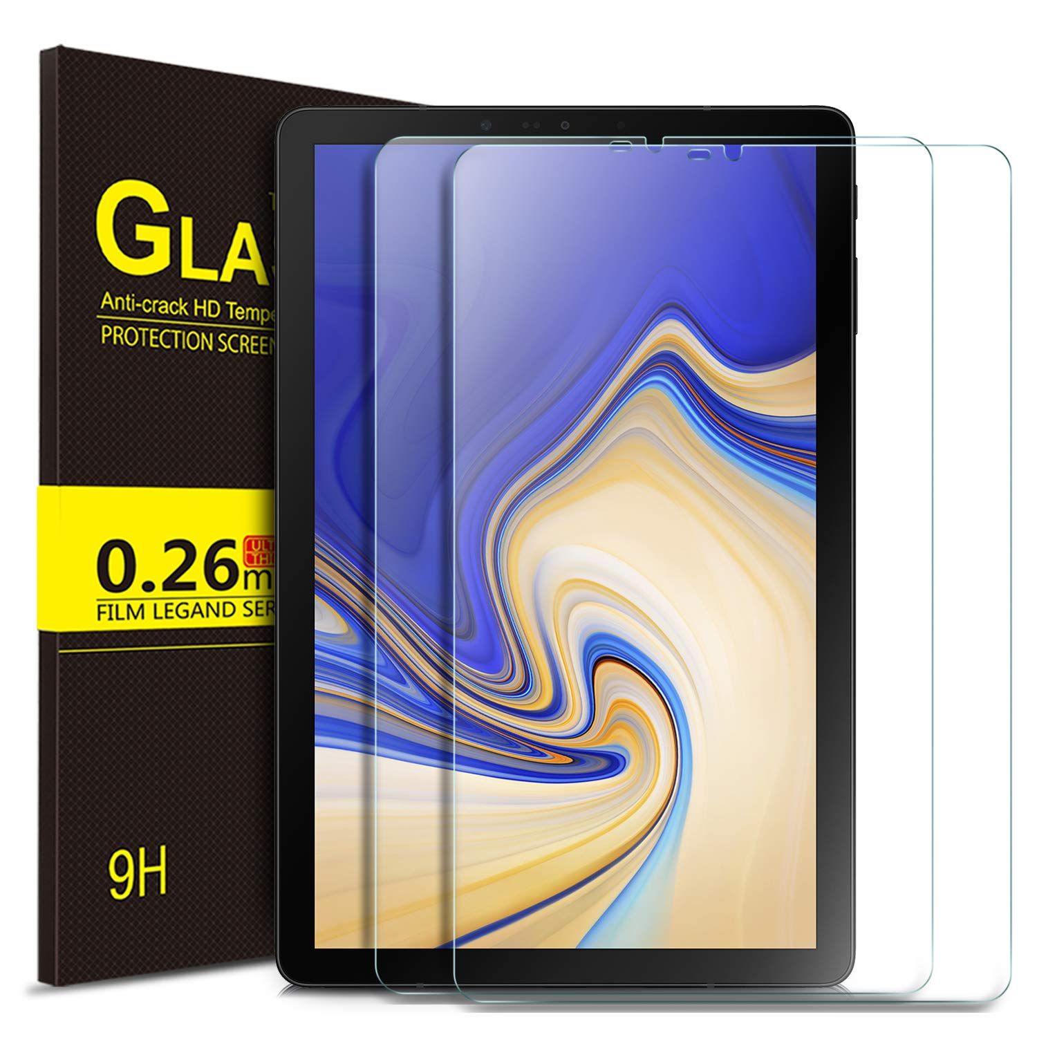 IVSO Samsung Galaxy Tab S4 10.5 Tablet Tempered-Glass Screen Protector,[Scratch-Resistant] [No-Bubble] for Samsung Galaxy Tab S4 SM-T830 Wi-Fi & SM-T835 4G LTE 10.5-inch 2018 Release Tablet (2pcs)