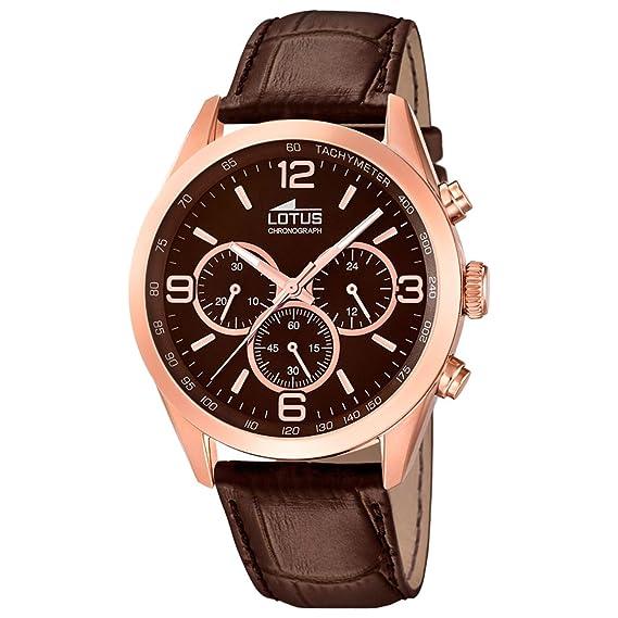 Reloj Lotus Caballero 18157/2 Cronógrafo piel marrón: LOTUS: Amazon.es: Relojes