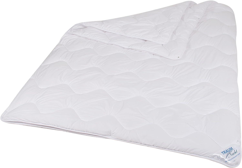 wei/ß teilbare Bettdecke Traumnacht 5-Star 4-Jahreszeiten aus reinem Baumwolle-Satin waschbar 135 x 200 cm