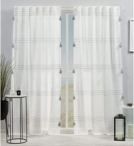 Exclusive Home Curtains Demi Light Filtering Hidden Tab Top Curtain Panel Pair, 54×96, Grey