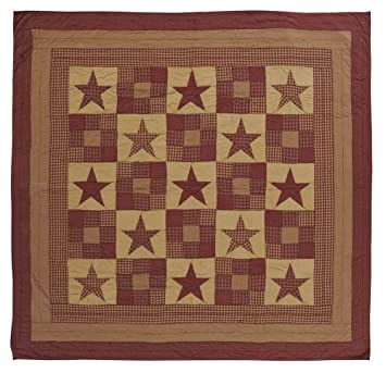 vhc brands ninepatch star queen quilt 90x90 - Vhc Brands