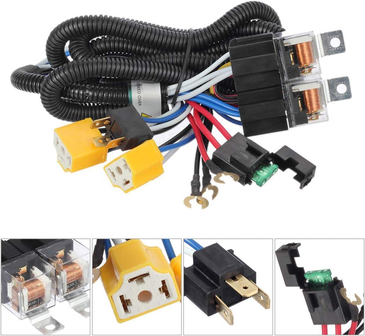 Partsam H4 9003 Headlight Relay Wiring Harness Kit High Low Beam Heat on h15 wiring harness, c3 wiring harness, b2 wiring harness, drl wiring harness, hr wiring harness, h7 wiring harness, g9 wiring harness, h11 wiring harness, ipf wiring harness, h8 wiring harness, h22 wiring harness, s13 wiring harness, f1 wiring harness, h3 wiring harness, h2 wiring harness, e2 wiring harness, t3 wiring harness, h13 wiring harness, h1 wiring harness,