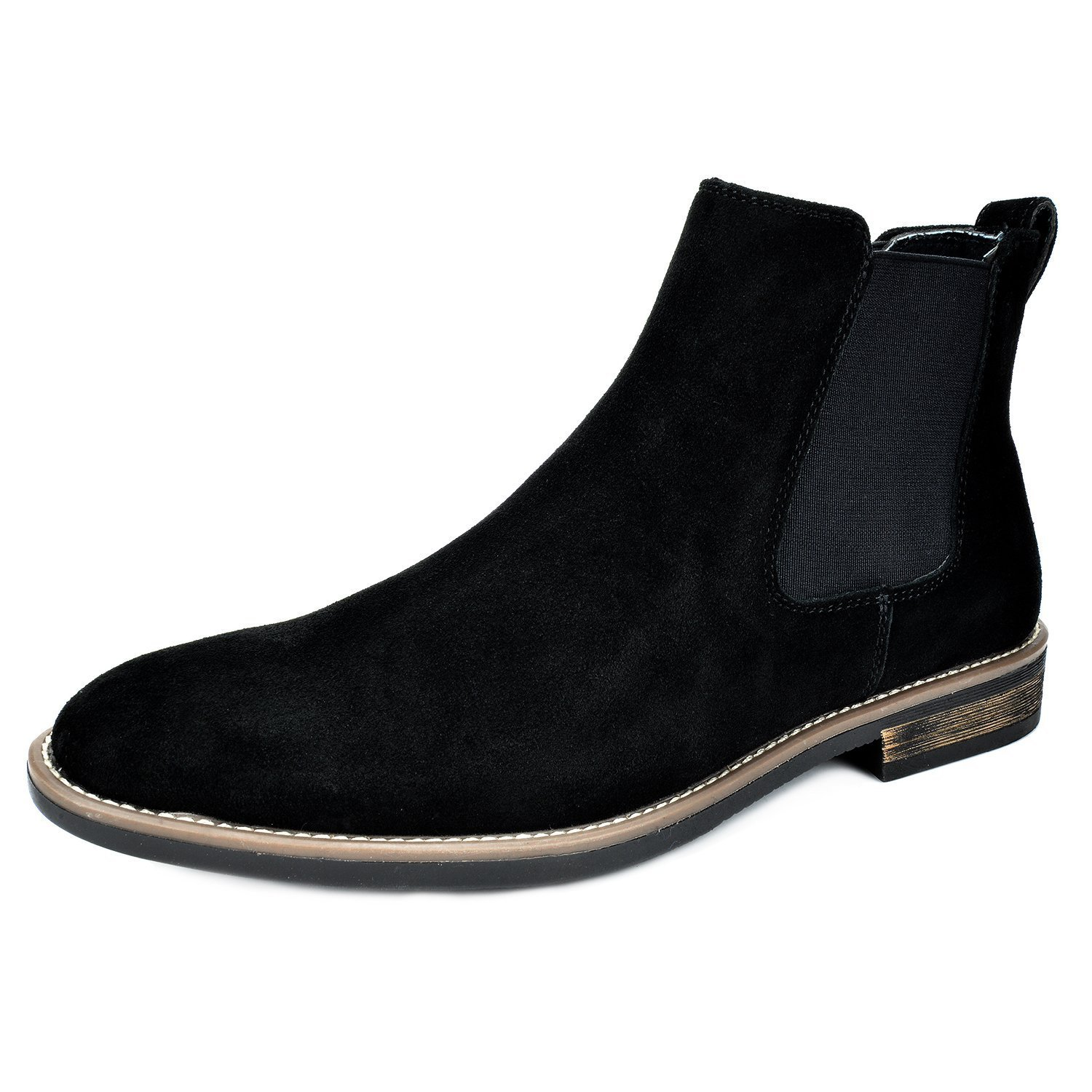 BRUNO MARC NEW YORK Bruno Marc Men's Urban-06 Black Suede Leather Chukka Ankle Boots - 12 M US