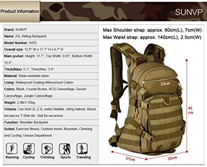 Protector Plus Huntvp 25L Tactical MOLLE Assault Military