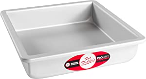 "Fat Daddio's Anodized-Aluminum Square Cake Pan, 8"" H x 8"" L x 2"" W"