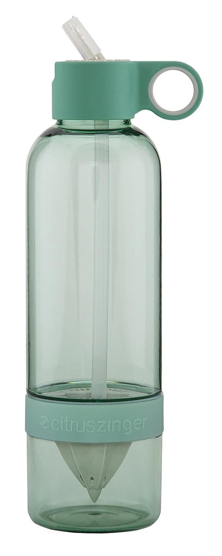 Citruszinger Zinger Sport Trinkflasche mit integrierter Fruchtsaftpresse Graumint Sage