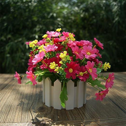 Flores artificiales crisantemo romántico jardines y rosa ...