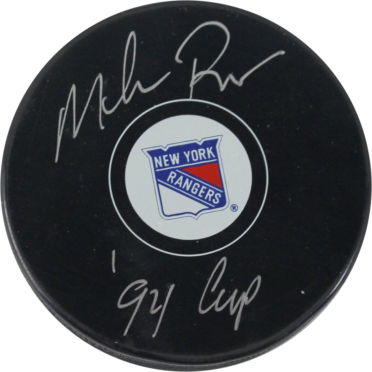 Mike Richter Signed New York Rangers Puck w/'94 Cup' Insc Steiner Sports