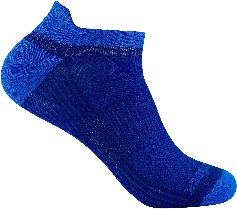 WrightSock Profi Sportsocke, Laufsocke, Sneakers Modell Coolmesh II, Anti-Blasen-System, doppel-lagig, Low Tab kurz