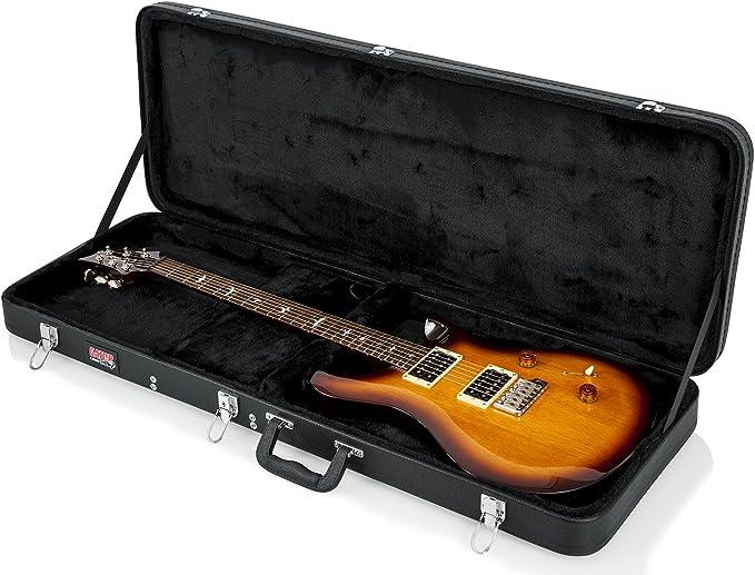 Gator Cases GWE-ELEC-WIDE Estuche tradicional de madera para PRS y guitarras eléctricas de cuerpo ancho, Amplia guitarra eléctrica: Amazon.es: Instrumentos musicales