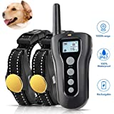 TOKEGO Dog Training Collar,Remote Rechargeable Shock Collar for Dogs, Waterproof Electric Shock Collar with Beep Vibration Shock
