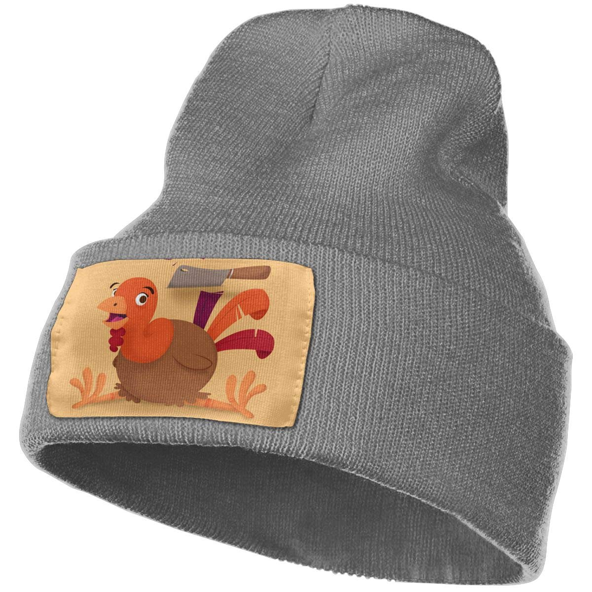 JimHappy Cook A Turkey Hat for Men and Women Winter Warm Hats Knit Slouchy Thick Skull Cap Black