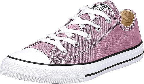 chaussure rose converse