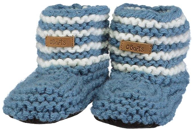 f4ecfef4e9f6 BARTS-Chaussures Naissance en Maille Bleu bébé Fille du 6 au 12 Mois ...