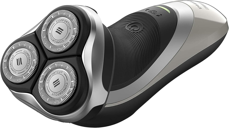Philips S3551/12 - Afeitadora (Máquina de afeitar de rotación, Negro, Plata, Blanco, AC/Batería, Ión de litio, 60 min, 1 h): Amazon.es: Salud y cuidado personal
