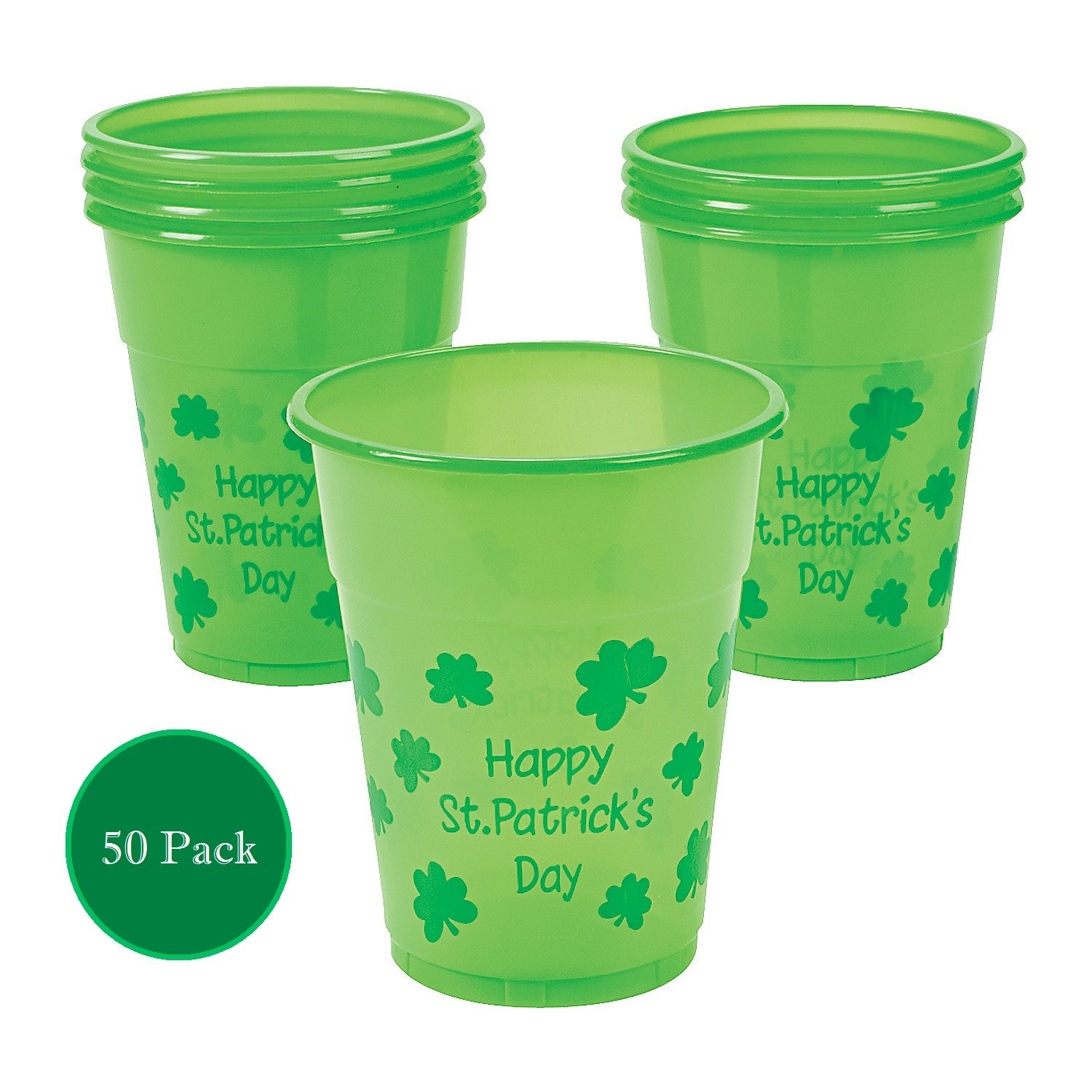 B006VS2EOU Fun Express St. Patrick's Day Disposable Cups : Package of 50 71X8V6ZusDL