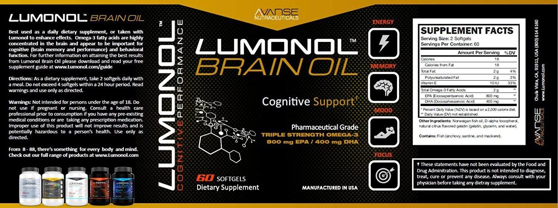 3 Bottle Lumonol + 3 Bottle Brain Oil (360ct) 3 Month Supply