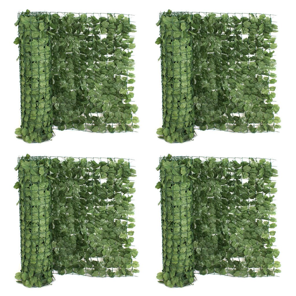 ZENY Set of 4 Faux Ivy Privacy Fence Screen 94'' X 59'' Artificial Hedge Fencing Outdoor Decor (4) by ZENY