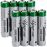 High Capacity 8 x AAA 1000mAh Ni-MH Rechargeable Batteries with Battery Storage Box(8 Pack)