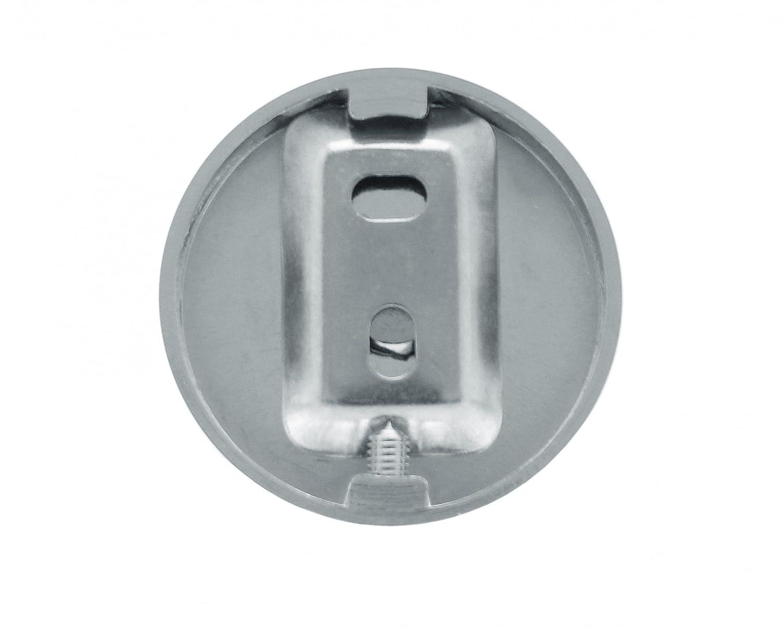 Nicol 7123100 EOS Estantería de Pared con 2 estantes (Cristal enmerilado, Metal, Cromo, 8.5 x 46.8 X 30.7 cm: Amazon.es: Hogar