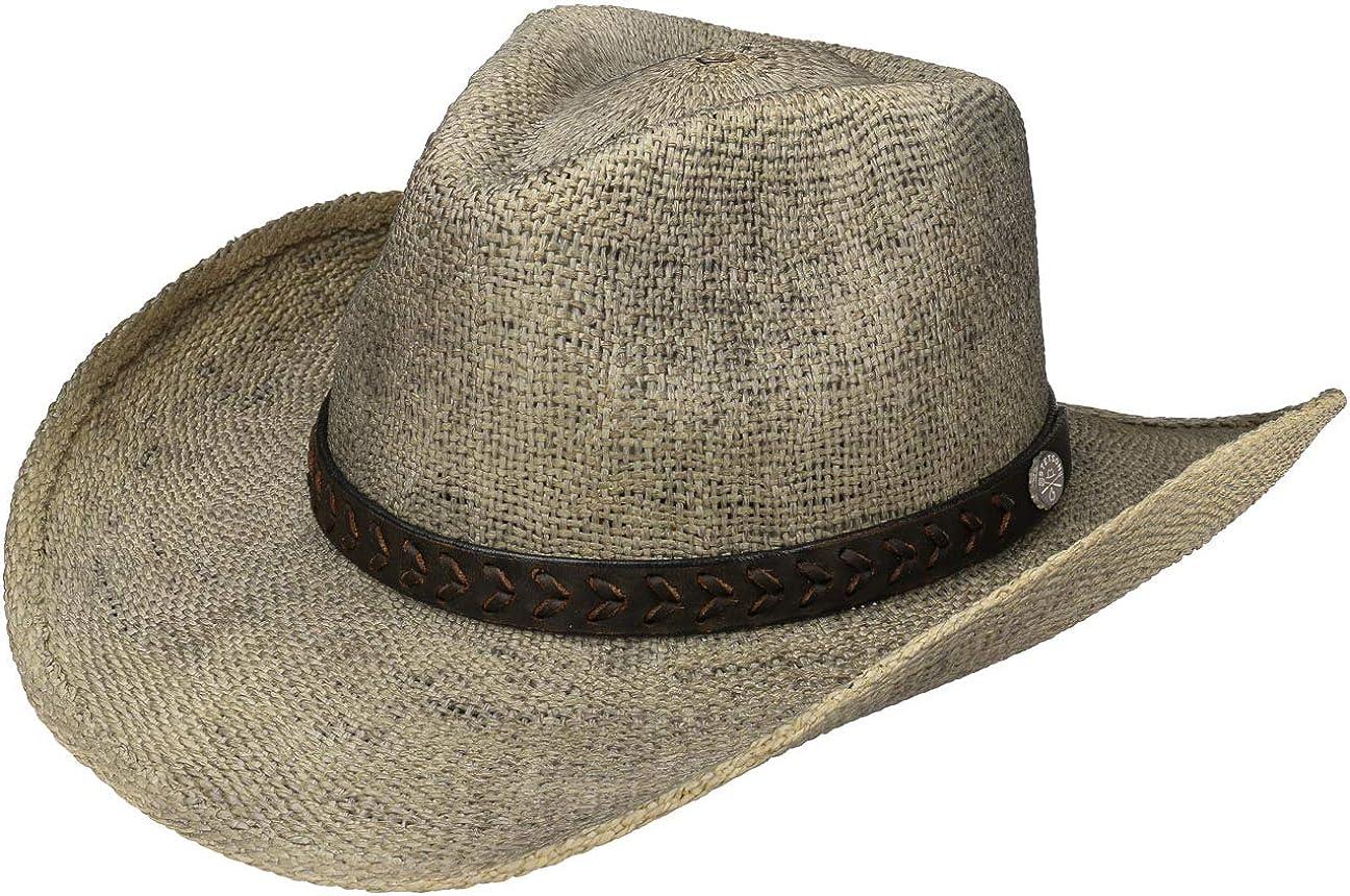Stetson Sombrero Mansfield Western Toyo Hombre - de Playa Sol con Banda Piel Primavera/Verano