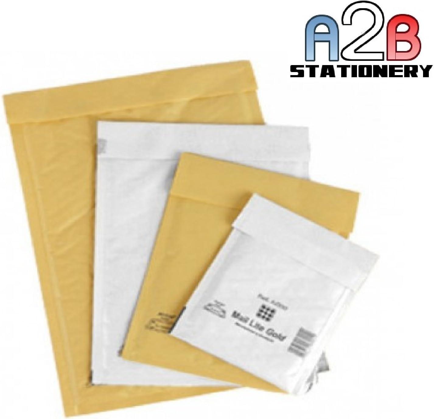 50 Mail Lite Gold A//000 JL000 Padded Envelopes 110 x 160mm