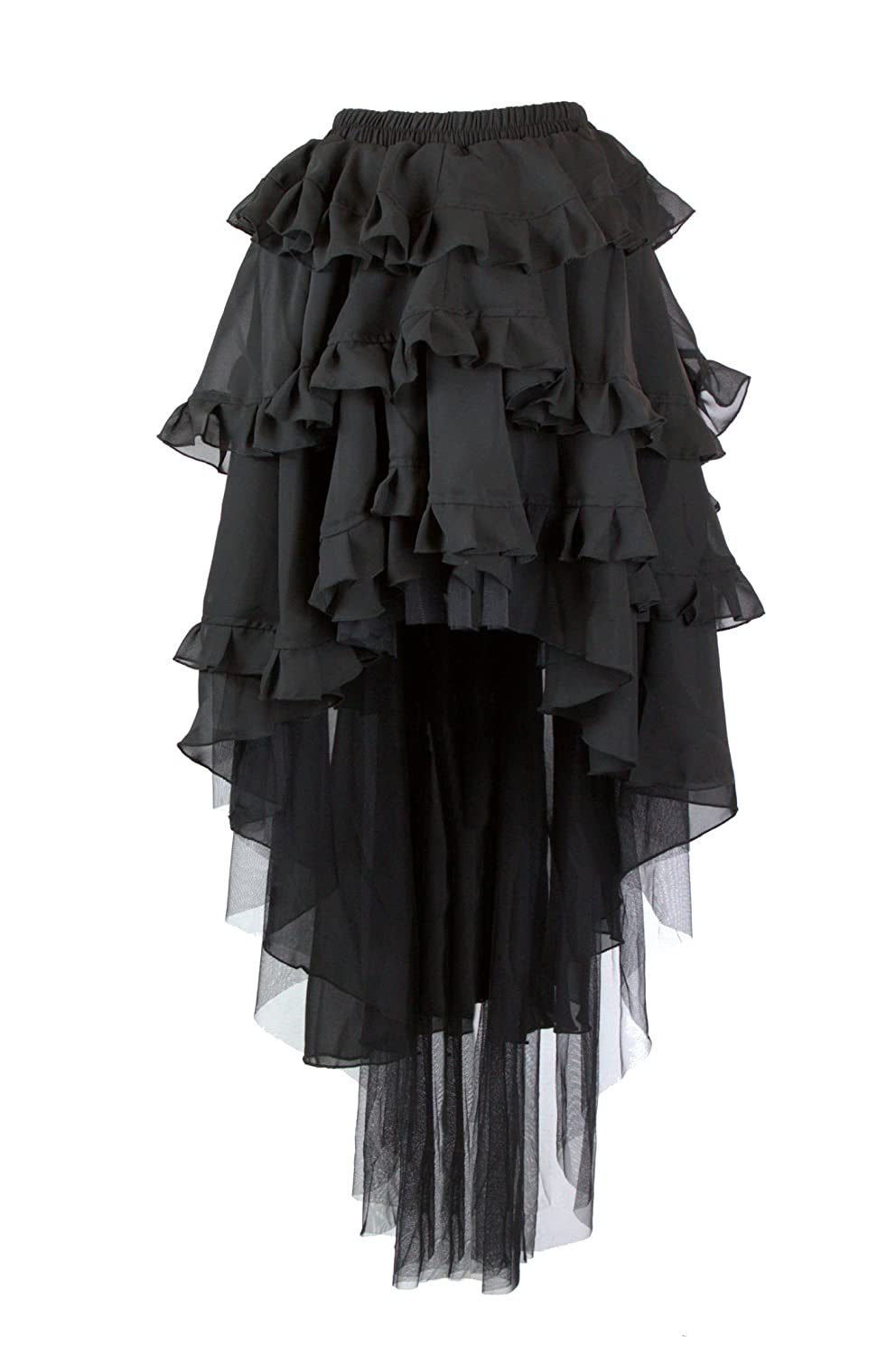 Steampunk Dresses and Costumes Black Steampunk Ophelie Skirt $86.99 AT vintagedancer.com