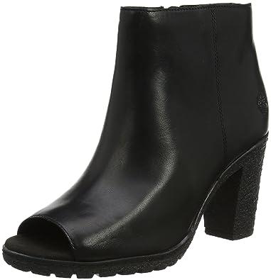Timberland Tillston Peep-Toe, Botines Femme, (Black TBL Forty 001), 39.5 EU