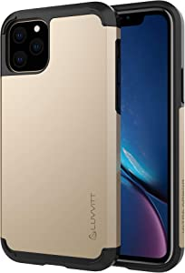 Luvvitt Ultra Armor Case Designed for iPhone 11 Pro Max 6.5 2019 with Removable Metal Plate for Magnetic Holder (car Phone Mount Cradle is not Included) for Apple iPhone XI 11 Pro Max - Gold