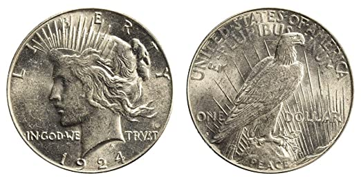 1922-S Peace Silver Dollar Circulated San Francisco Mint