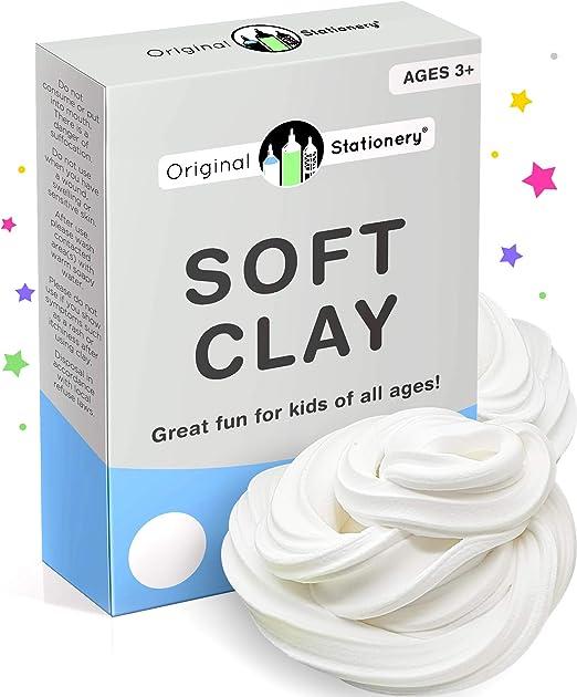 Original Stationery Soft Clay para Slime - Arcilla Suave o Pasta para Modelado Agrega al pegamento y a la espuma de afeitar para hacer un Slime de mantequilla 230 gramos - Sirve