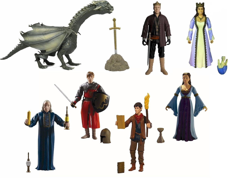 Die Abenteuer von Merlin Action Figures - KOMPLETTE EINST AUS SIEBEN (7)