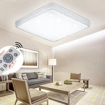Deckenbeleuchtung Wohnzimmer yesda led kristall deckenleuchte sternenhimmel starlight eckig
