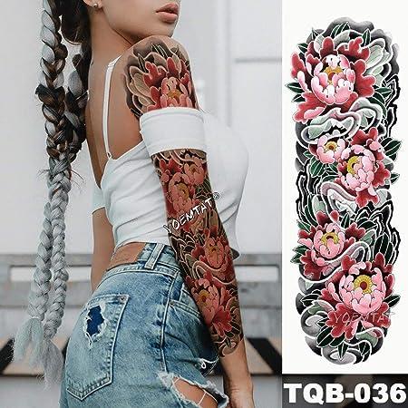 tzxdbh Nueva Etiqueta de Tatuaje Temporal Mar de Loto Rosado ...