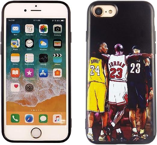 iPhone SE 2020 TPU Case CASEVEREST 3D Print Design Slim Fit Cover iPhone SE Kobe Jordan Lebron Basketball Goat iPhone 6S 7 8