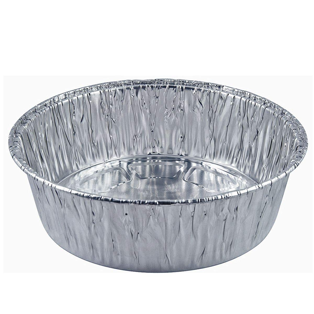 Disposable Round Baking Aluminum Pans - 10-inch Round Extra Deep Round Casserole Cake Pan (100 Count)