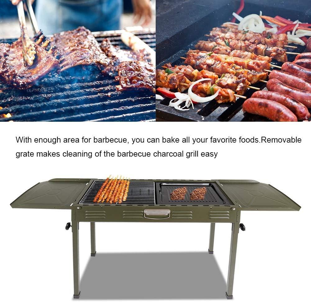 Pliable pour Jardin Barbecue Portable Barbecue /à Charbon BBQ de Bois Barbecue Gril en Fonte Grille de Cuisson Grill de Camping au Charbon de Bois