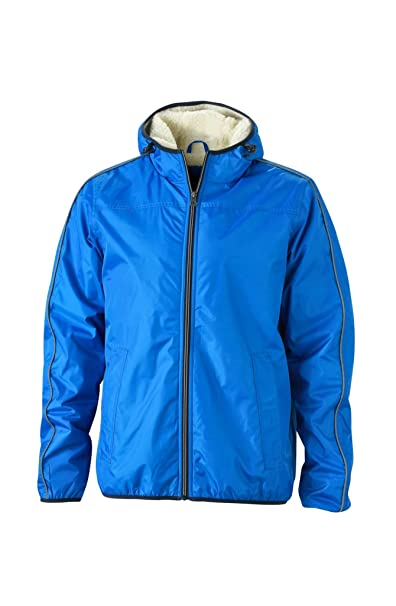Mens Winter Sports Jacket in royal/off-white Size: S